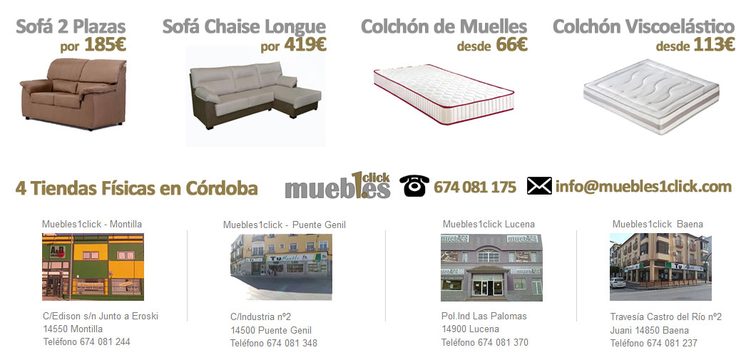 Ofertas de muebles baratos econ micos en pozoblanco for Muebles baratos por internet